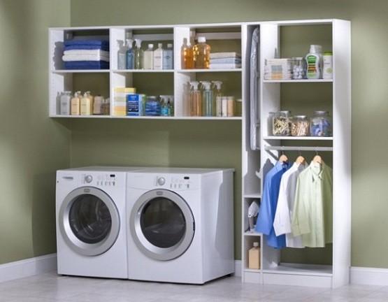 Simple small laundry room organization ideas   Home Interiors on Small Laundry Room Organization Ideas  id=57231