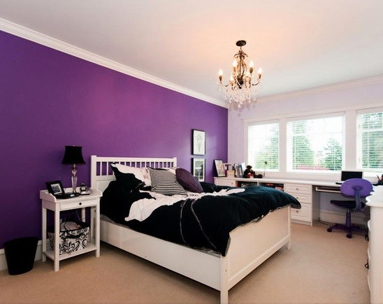 Purple Bedroom Ideas For Elegant And Girly Look Home Interiors