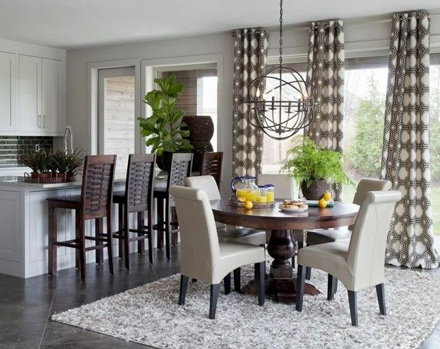 Dining Room Window Treatments Ideas And Types You Might ... on Dining Room Curtain Ideas  id=38425
