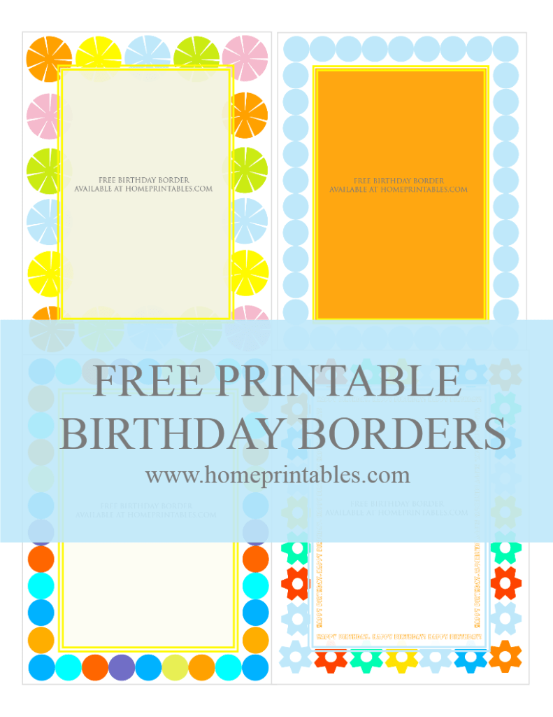 Fun Designs: Free Birthday Borders for Invitations!