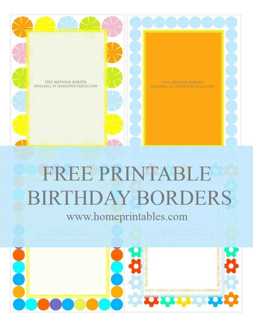fun designs free birthday borders for invitations  home