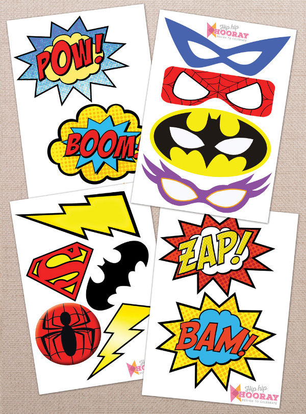 30 amazing free superhero party printables home printables