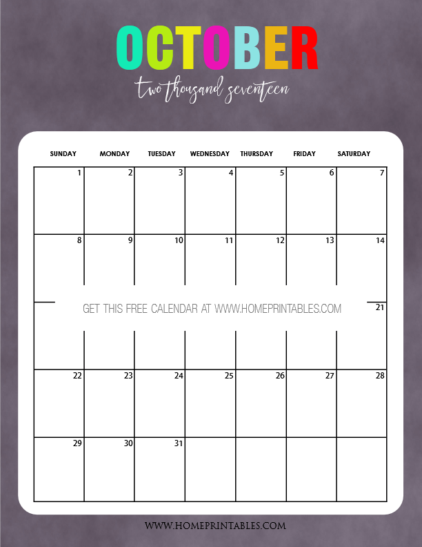 2017 Calendar Printable Template with Holidays