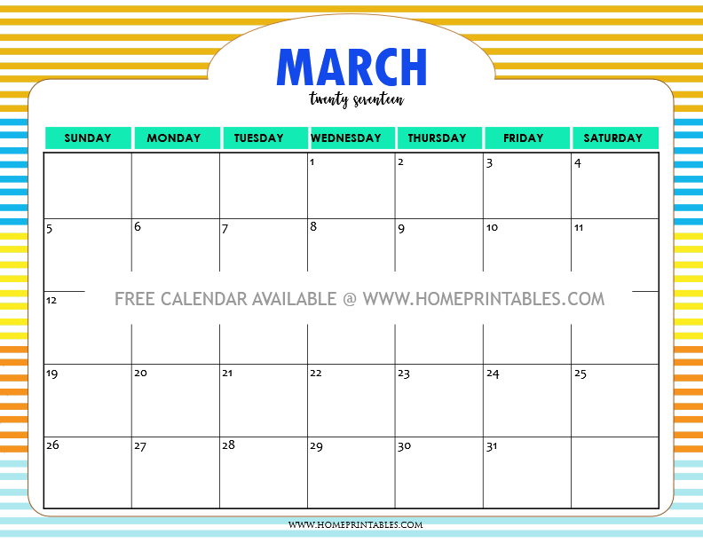 cute-free-printable-march-2017-calendar
