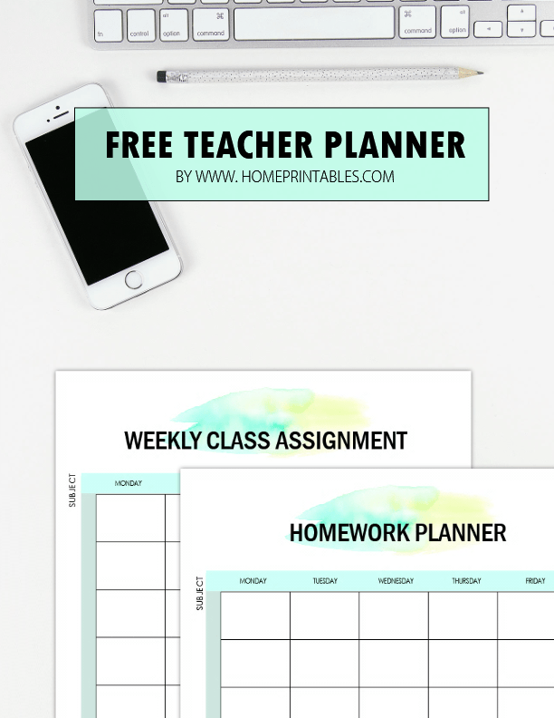 photograph relating to Printable Teacher Planner known as No cost Instructor Planner Printables: 35 Planning Sheets