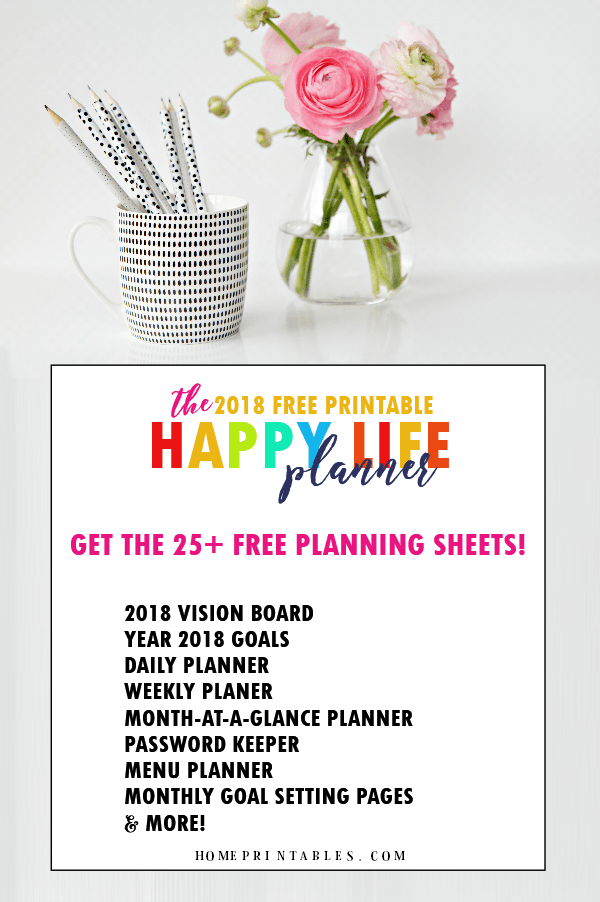 free printable 2018 planner  25 amazing organizers