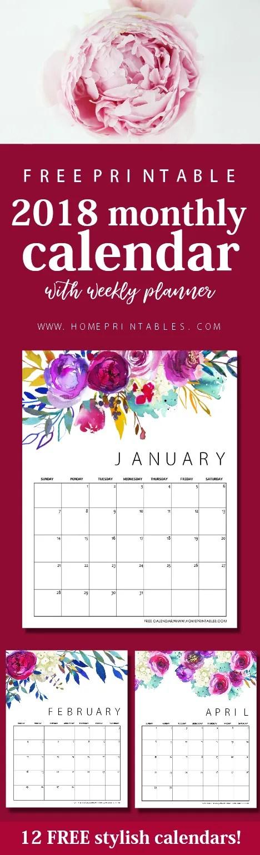 Kindergarten Calendar S S : Free printable calendar in beautiful florals home