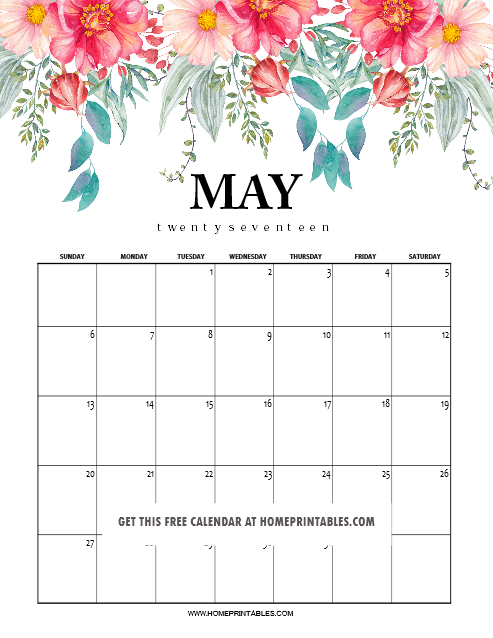 May 2018 Free Pdf Magazine Download: May 2018 Calendar Printable: 10 Amazing Designs!