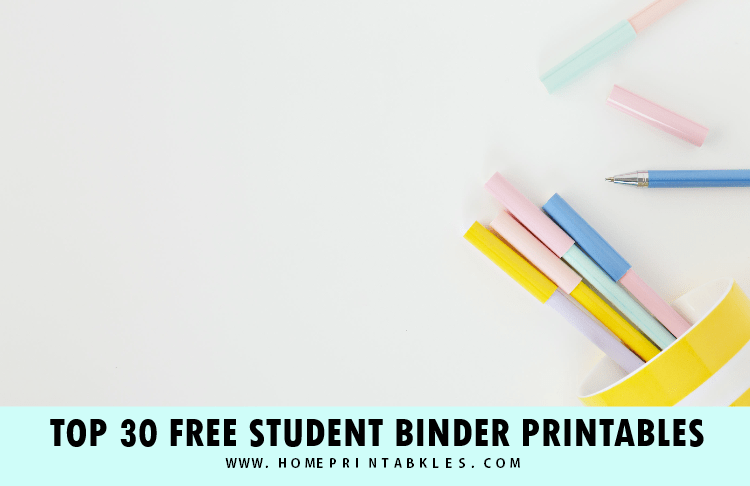 Where to Find the Best Student Binder Printables