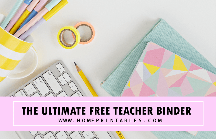 free printable teacher binder