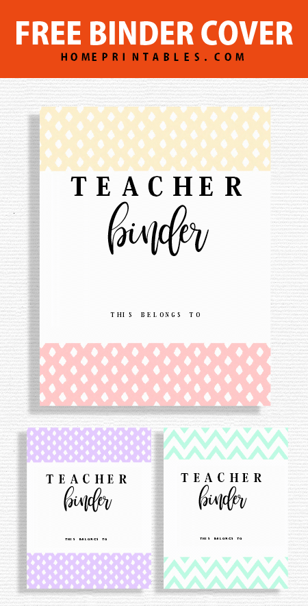 Vibrant image throughout teacher binder printables