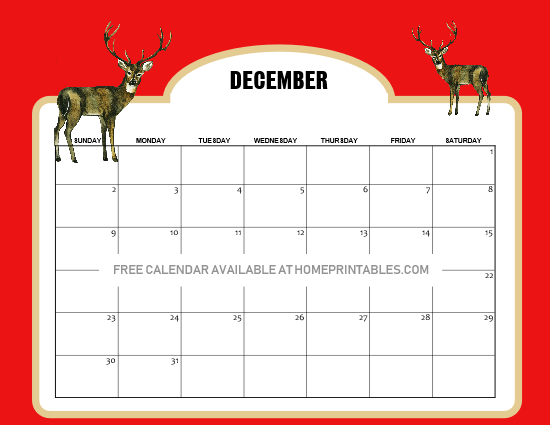 12 Free December 2018 Calendars And Planners In Christmas Theme