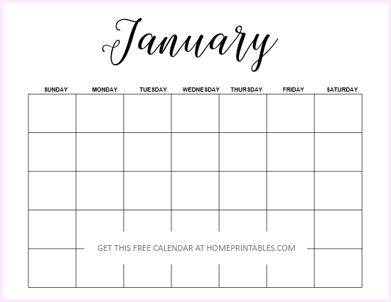 Free Fillable Calendar 2019 Blank Calendar 2019: Free Editable Template in Microsoft Word!