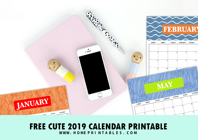 FREE 2019 Calendar Printable & Weekly Planner: Super Cute!