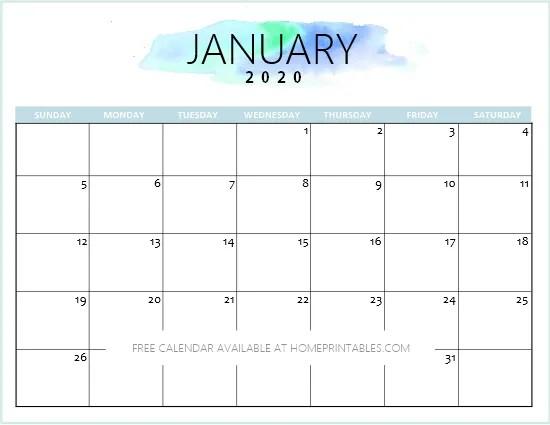 January Printable Calendar 2020.Cute January 2020 Calendar Printable Suyhi Margarethaydon Com
