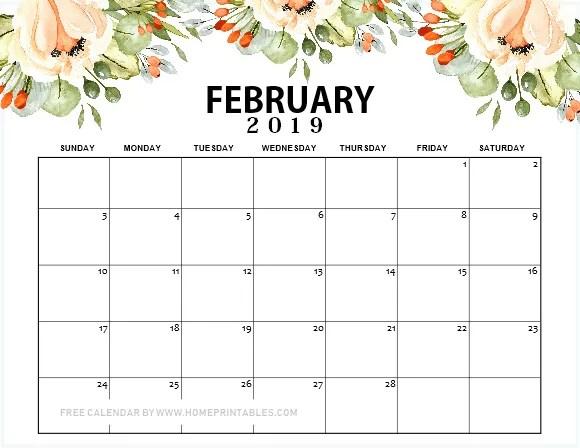 Colorful February 2019 Calendar Printable 12 Free Printable February 2019 Calendar to Love: ALL Pretty!