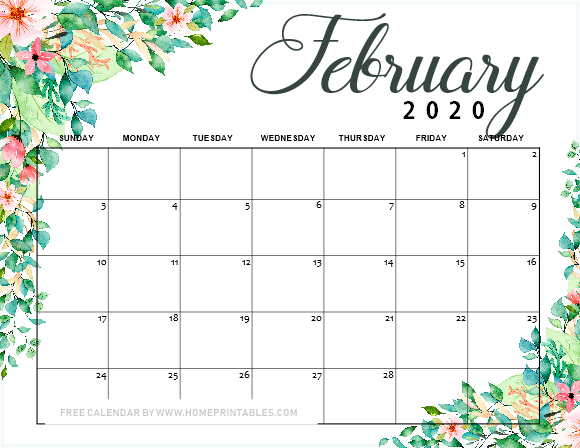 February Calendar 2019.12 Free Printable February 2019 Calendar To Love All Pretty