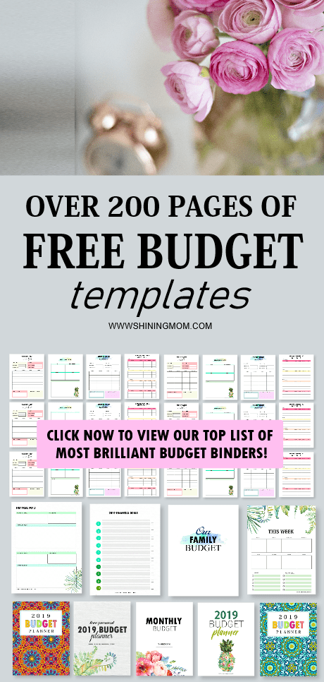 monthly budget template printables
