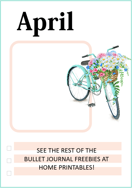 April bullet journal template