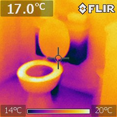 Toilet supplied with cold water