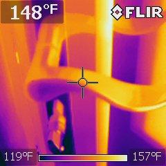 Hot door handle encountered by home buyer