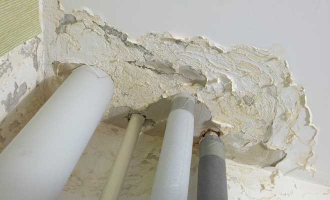 Ceiling Damaged by a Water Leak
