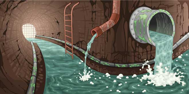 Drawing of a Sewer System