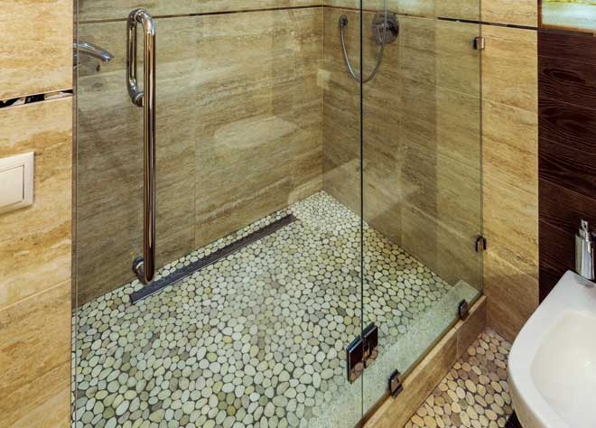 Stone And Tile Bring Out Your Creativity. Stone Shower Floor