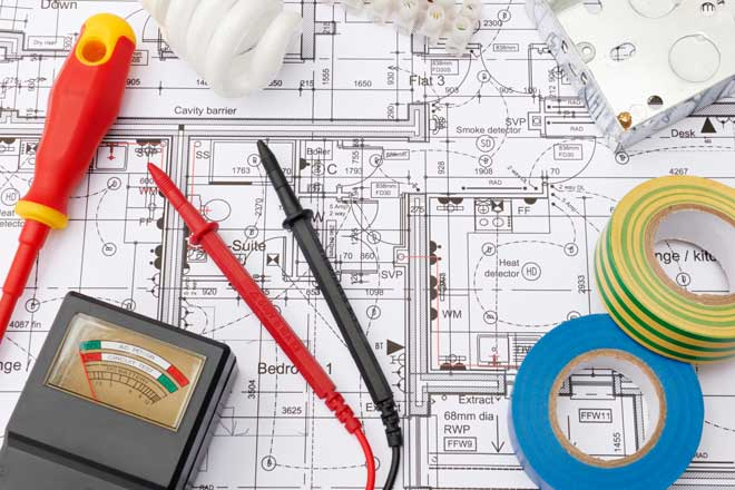 Electrical Items on Top of Home Plans