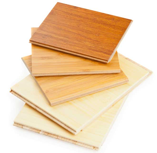 Stack of Laminate Bamboo Flooring Samples
