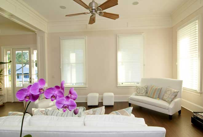 Crown Molding in Beautiful Living Room