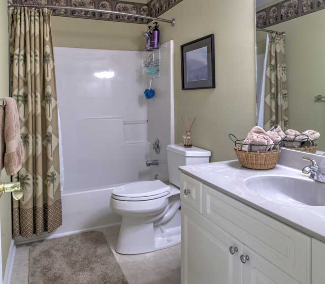 Typical Fiberglass Shower And Tub