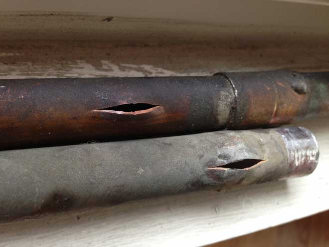 Copper Pipes Froze and Burst