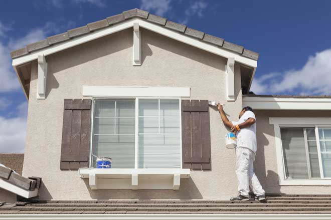 House Painter Painting Exterior Trim