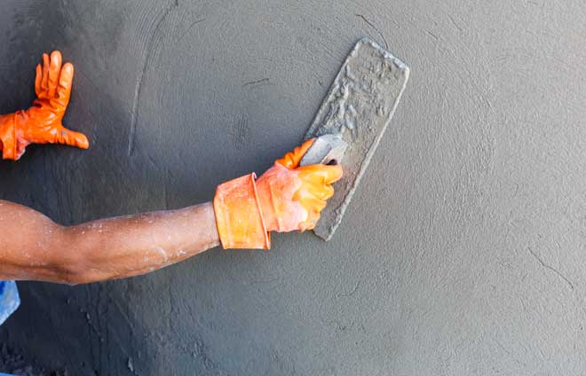 Concrete Wall Finish