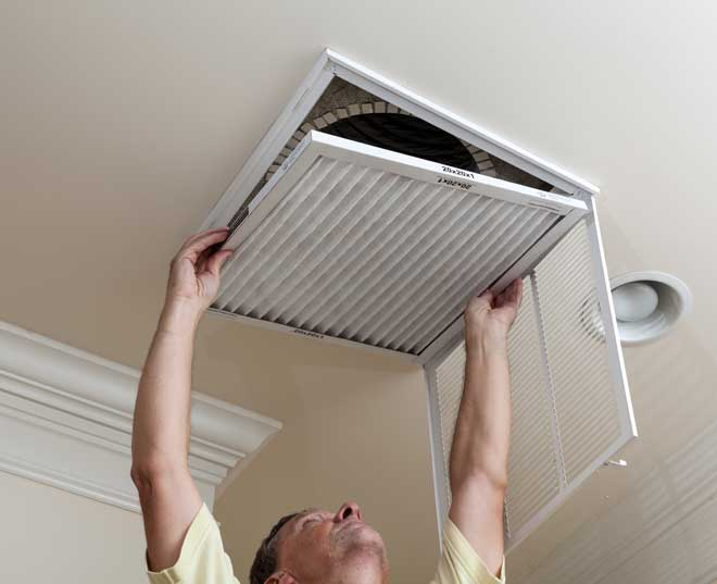 Changing a Ceiling Vent Filter