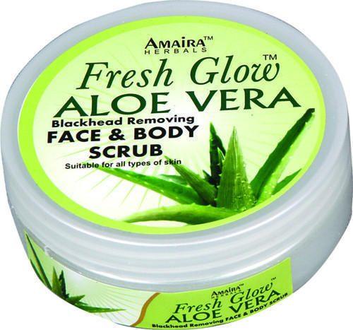 Aloe Vera scrub to relief sunburn