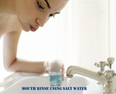 Mouth rinse using salt water
