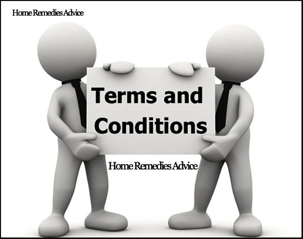 Terms Conditions for Home Remedies Advice