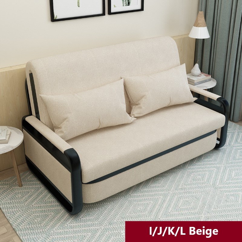 Sofa Bed With Storage Compartment, Beige Sofa Bed With Storage