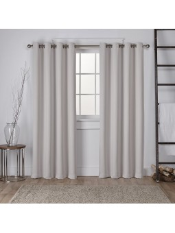 rideau occultant 140x260cm gris clair homerokk