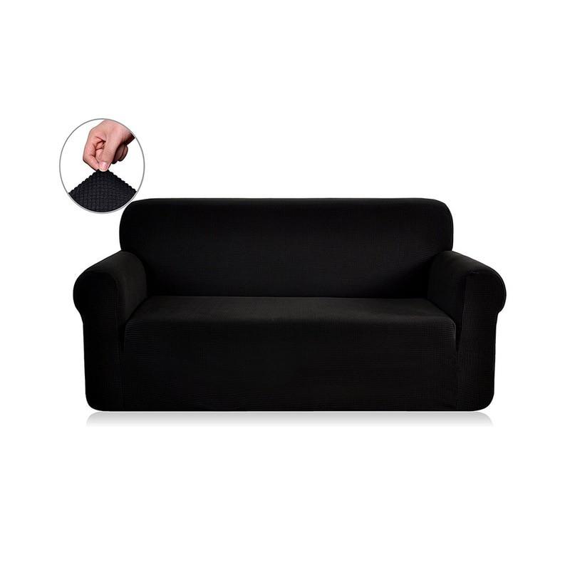 housse de canape noir 3 places