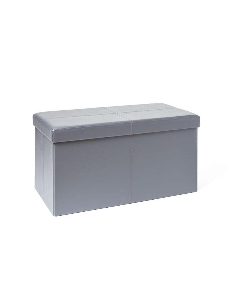 banc coffre rangement pliable anthracite 76x38x38 cm homerokk