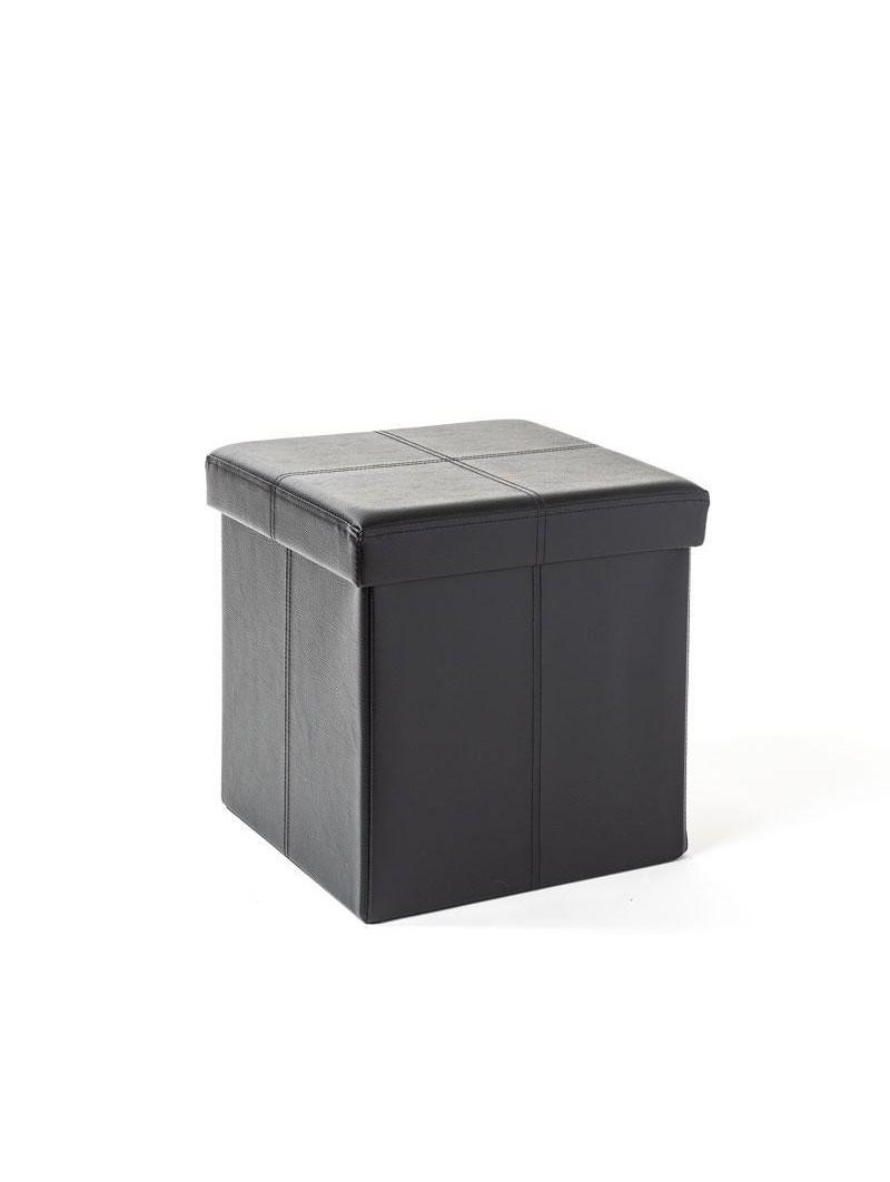banc coffre rangement pliable noir 38x38 cm homerokk