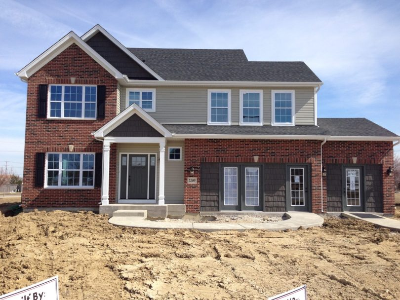 New Home Construction Joliet, IL - Cambridge Front Elev B
