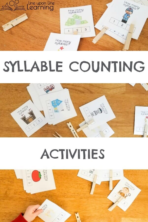 Teach syllables by count syllables in familiar objects. Fun activities for further syllable counting practice.