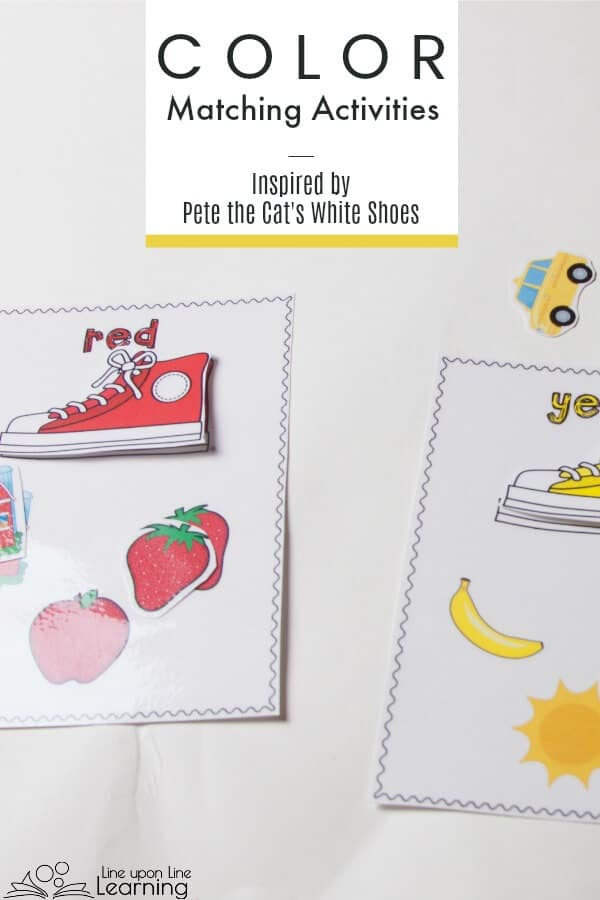 These color Matching Activities are great for an introduction to color recognition. The shoes matching file folder game is free to subscribers! Use cards without the images for a more advanced color sort.