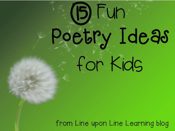 15 fun poetry ideas