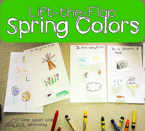 My daughter loves that she was the creator of our own lift-the-flap book!