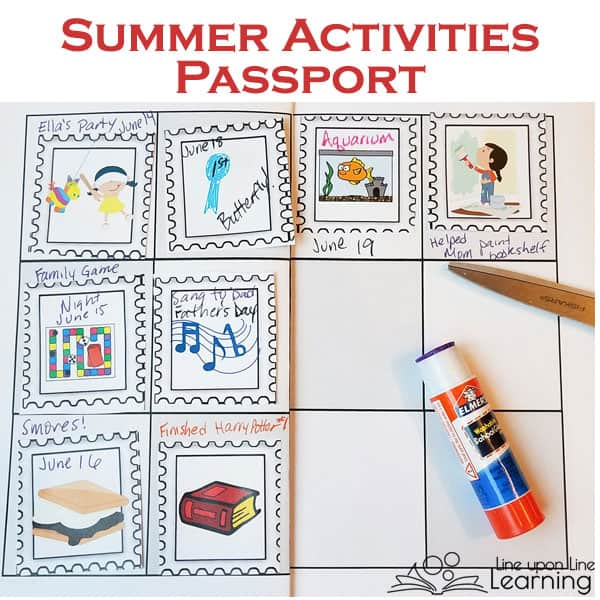 We keep track of our summer bucket list inside of our Summer Fun Passport. More than 80 colorful stamps fit right inside, and we can even design our own activities stamps.